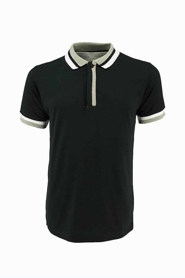 Casual Polo Black/Grey/White